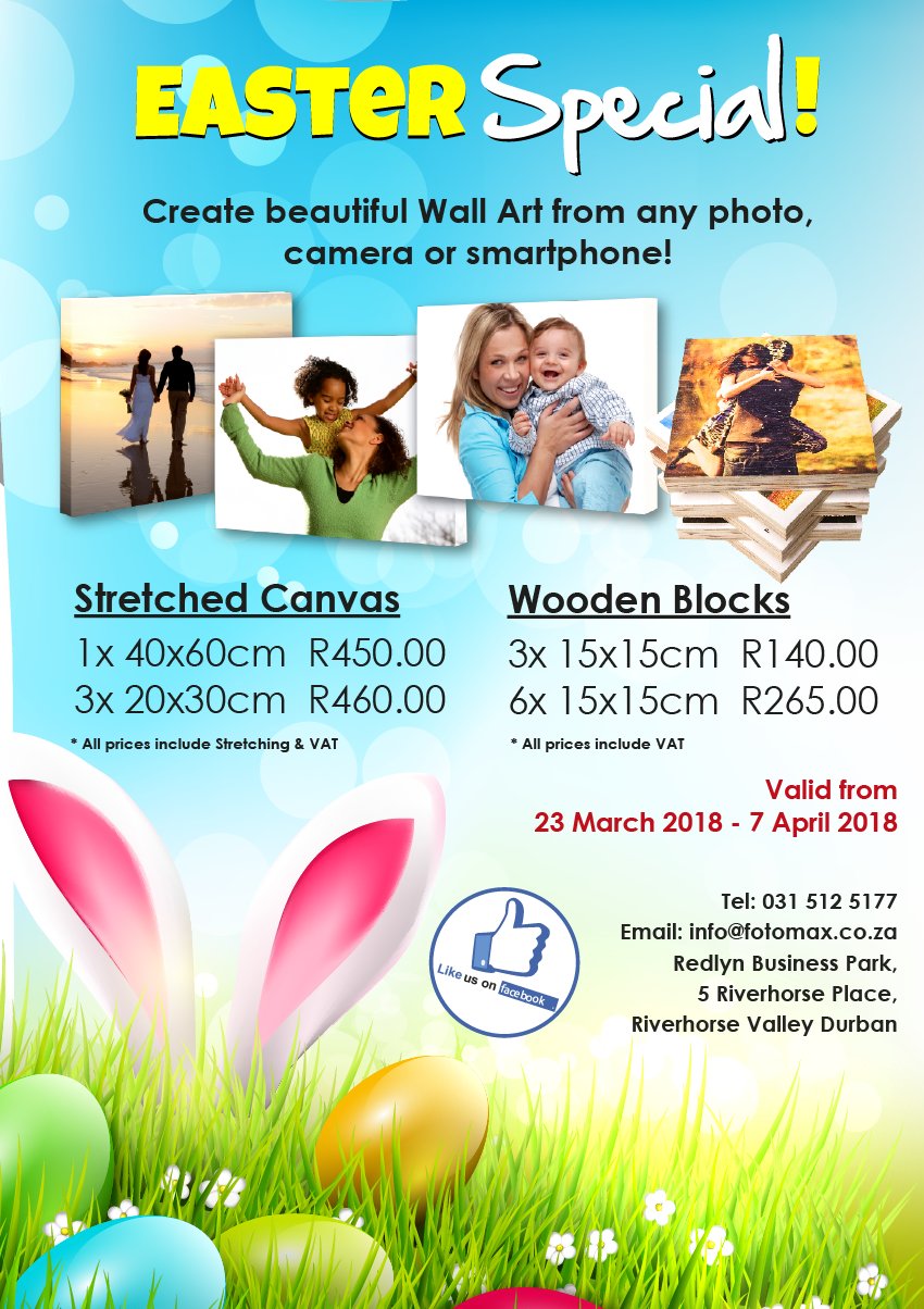 Extended Easter Special on Canvas & Wooden Blocks!