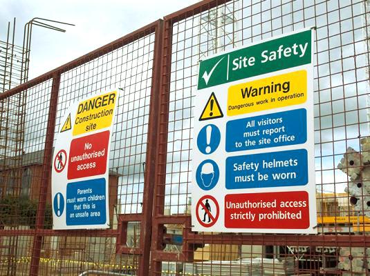 Safety Signage on fence