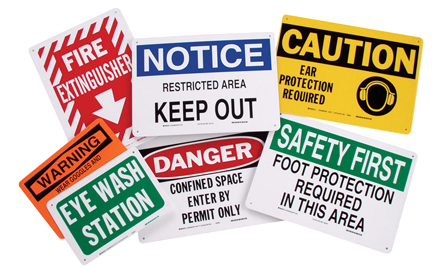 Various ABS Signs